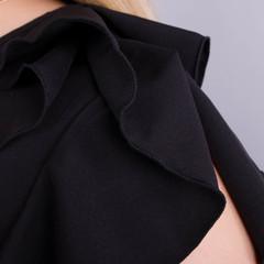 Руна. Легка офісна блуза плюс сайз. Чорний.