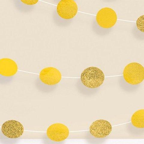 Гирлянда Круги Yellow S блеск 2,1м 6шт/A