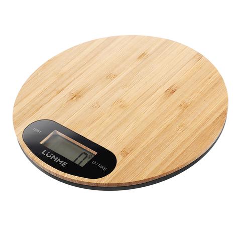 Весы кухонные сенсор LUMME LU-1347 бамбук