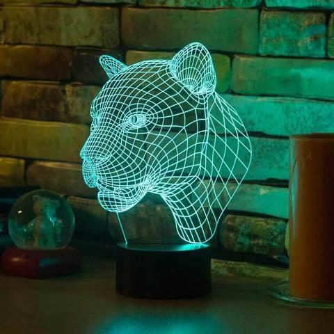 3D ночник Пума
