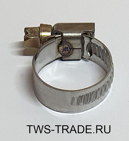 Хомут червячный 12-20 мм W2 (нержавеющая сталь)