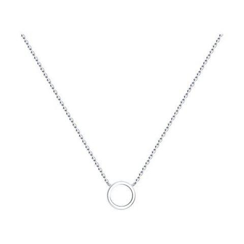 94070444 - Колье из серебра с круглой подвеской