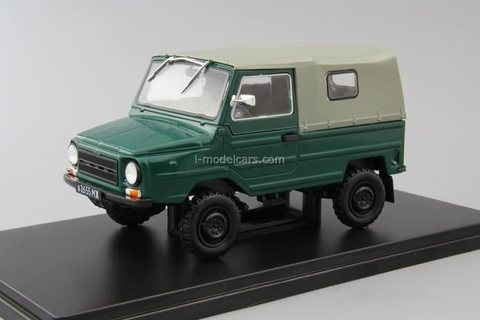 LUAZ-969M Volyn dark green 1:24 Legendary Soviet cars Hachette #33