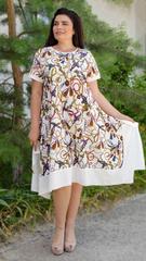 Адажио літо. Святкова сукня великих розмірів. Молоко.