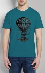 461493-32 футболка мужская, бирюзовая