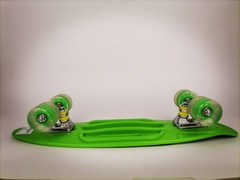 Скейтборд Граффити со светящимися колесами зеленый