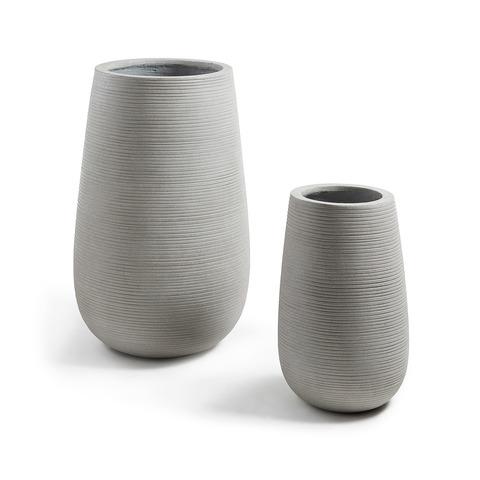 Lis Комплект 2 вазы цементно-серый