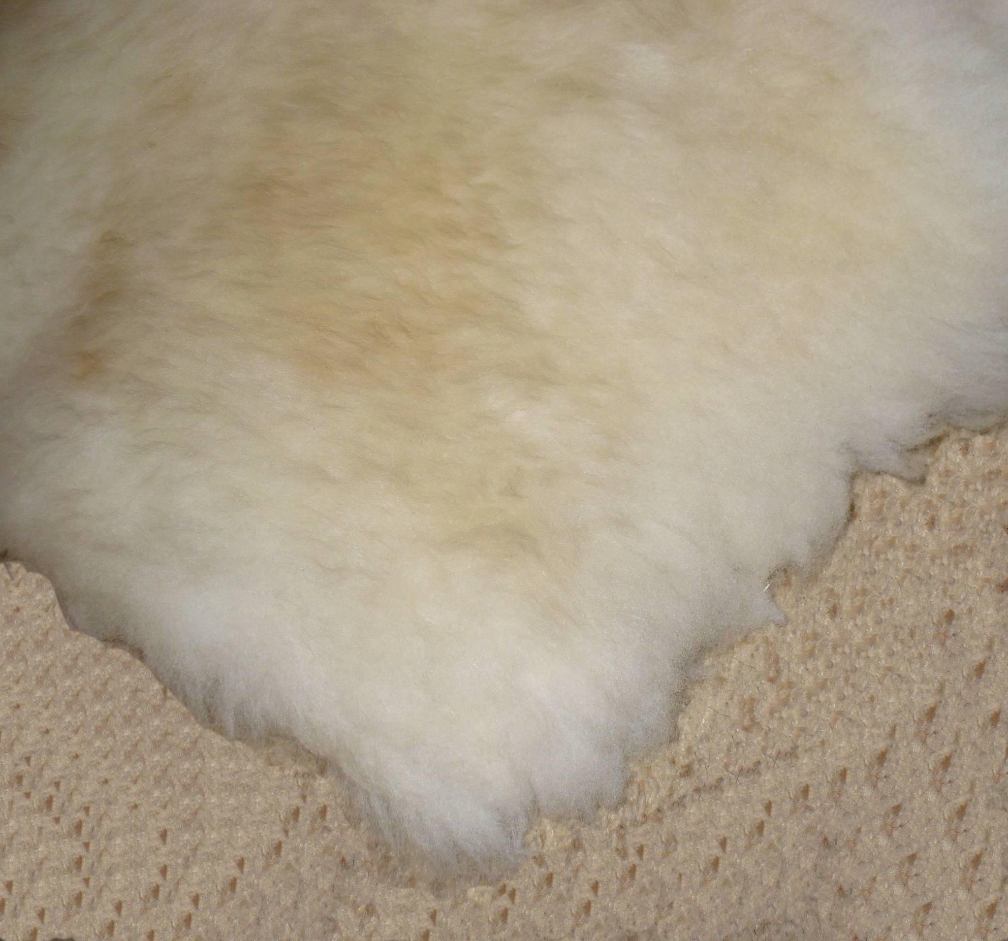 Шкура овечья сливочная