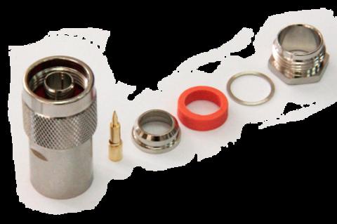 Разъем прижимной N-112C-10D-вилка (Закрутка, цанга)