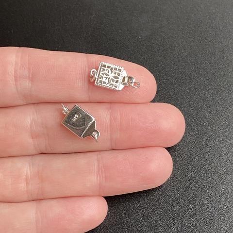 Замочек резной для бус 14,5х8 мм серебро 925 1 шт