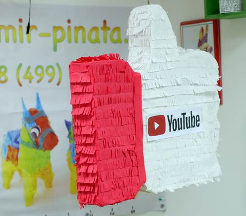 Пиньята лайк YouTube