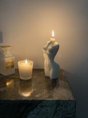 La Van De Свеча из натурального воска белая Natural Wax White Candle