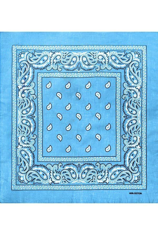 Голубая мужская бандана фото