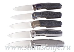 Сет 5 ножей CKF/Philippe Jourget FIF20 (M390, Ti , CF, ZircuTi, Больстер)