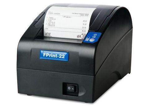 Фискальный регистратор АТОЛ FPrint-22ПТК. Черный. Без ФН, RS+USB+Ethernet