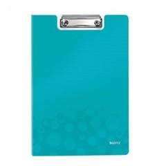 Папка-планшет Leitz Wow A4 пластиковая бирюзовая с крышкой
