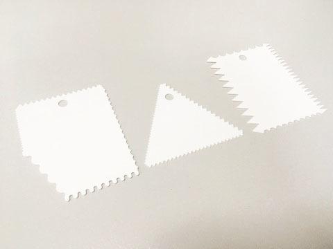 Набор скребков фигурных-1, пластик (3 шт.)