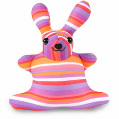 Подушка-игрушка антистресс Gekoko «Розовая Полосатая Зая» 2