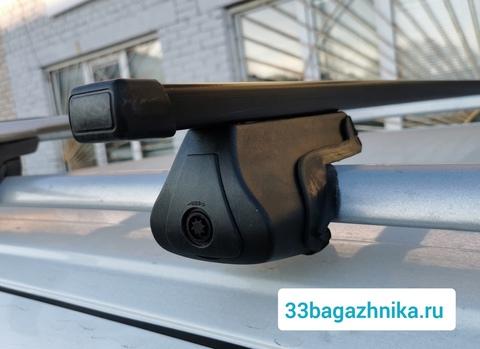 Багажник Дельта Партнер на рейлинги с прямоугольной поперечиной 120 см.