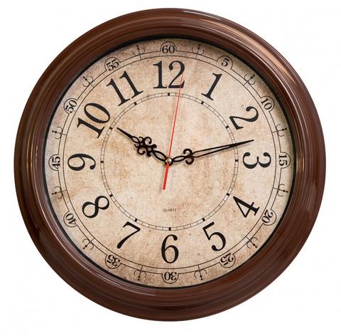 Часы настенные аналоговые Бюрократ WallC-R77P D35см коричневый