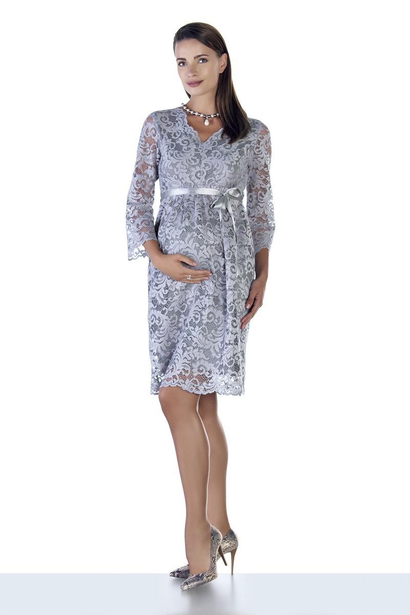 Фото платье для беременных EBRU, вечернее от магазина СкороМама, серый, размеры.