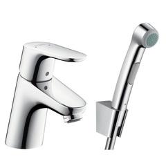 Смеситель для раковины с гигиеническим душем с цепочкой Hansgrohe Focus 31926000 фото