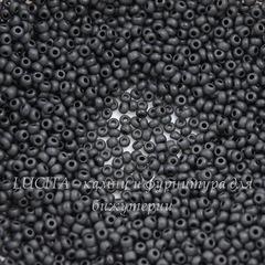 23980 М Бисер 10/0 Preciosa Керамика черный матовый