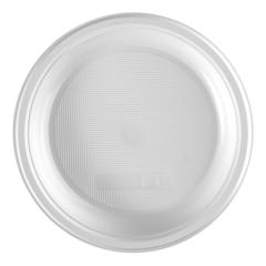 Тарелка одноразовая d 165мм, десертная, белая, ПП, 100шт/уп