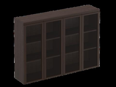 МК 323 ДА Шкаф для документов средний со стеклянными дверями