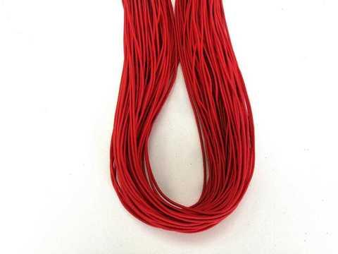 Шляпная резинка, толщина 1мм, цвет красный. 1м.