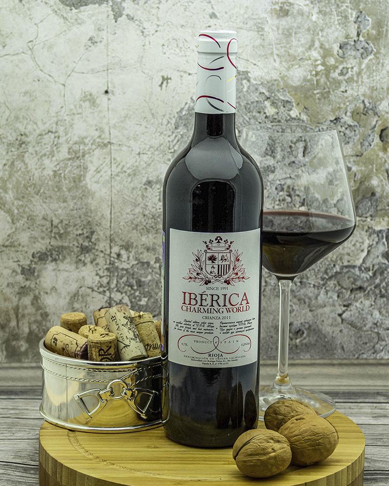 Вино Iberica Чарминг Ворлд Ресерва Красное Сухое 13,5% 0,75 л.