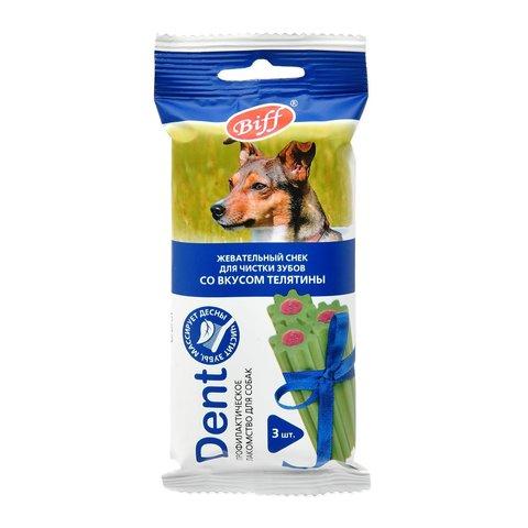 Titbit Dent Лакомство для собак средних пород жевательный снек со вкусом телятины