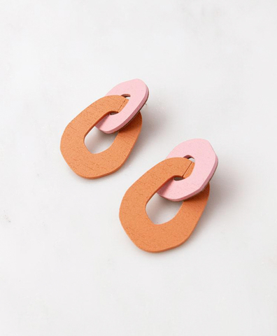 Серьги Rosa Earrings in Rose/Orange