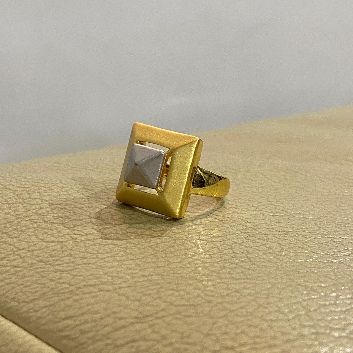 Кольцо Vi Пирамида двухцветный