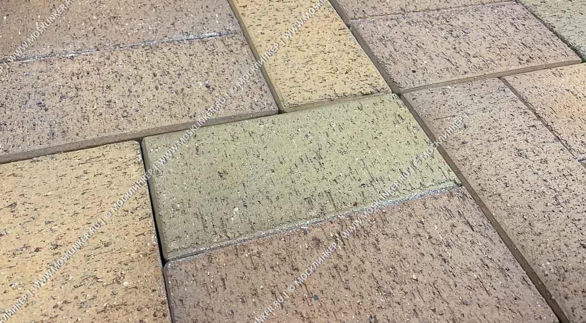 Feldhaus Klinker - P203SKF, Areno trigo, песочно-желтый пестрый, с оттенками, 200х100х40 - Клинкерная тротуарная брусчатка