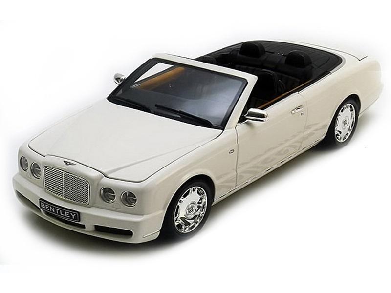 Коллекционная модель Bentley Azure Cabriolet 2006 White Metallic