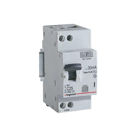 Дифавтомат - Автоматический выключатель дифференциального тока (АВДТ) RX - 2P - 25 А, 30 мА, Тип АС. Legrand (Легранд). 419401