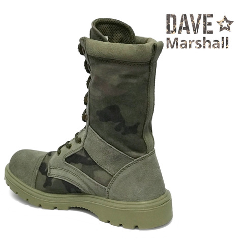 Берцы кожаные облегченные камуфляжные DAVE MARSHALL AZIMUTH K-9