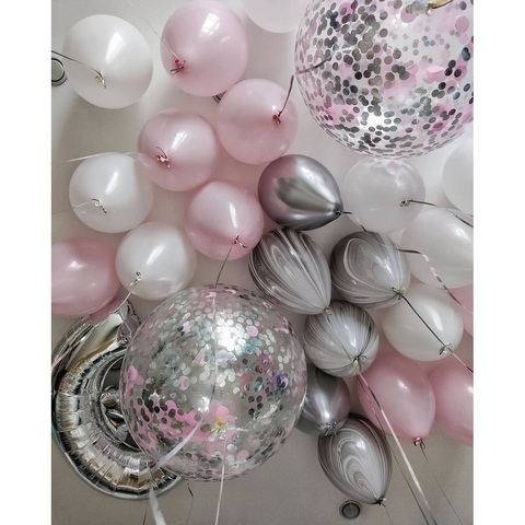 Сет нежно-розовый серебро