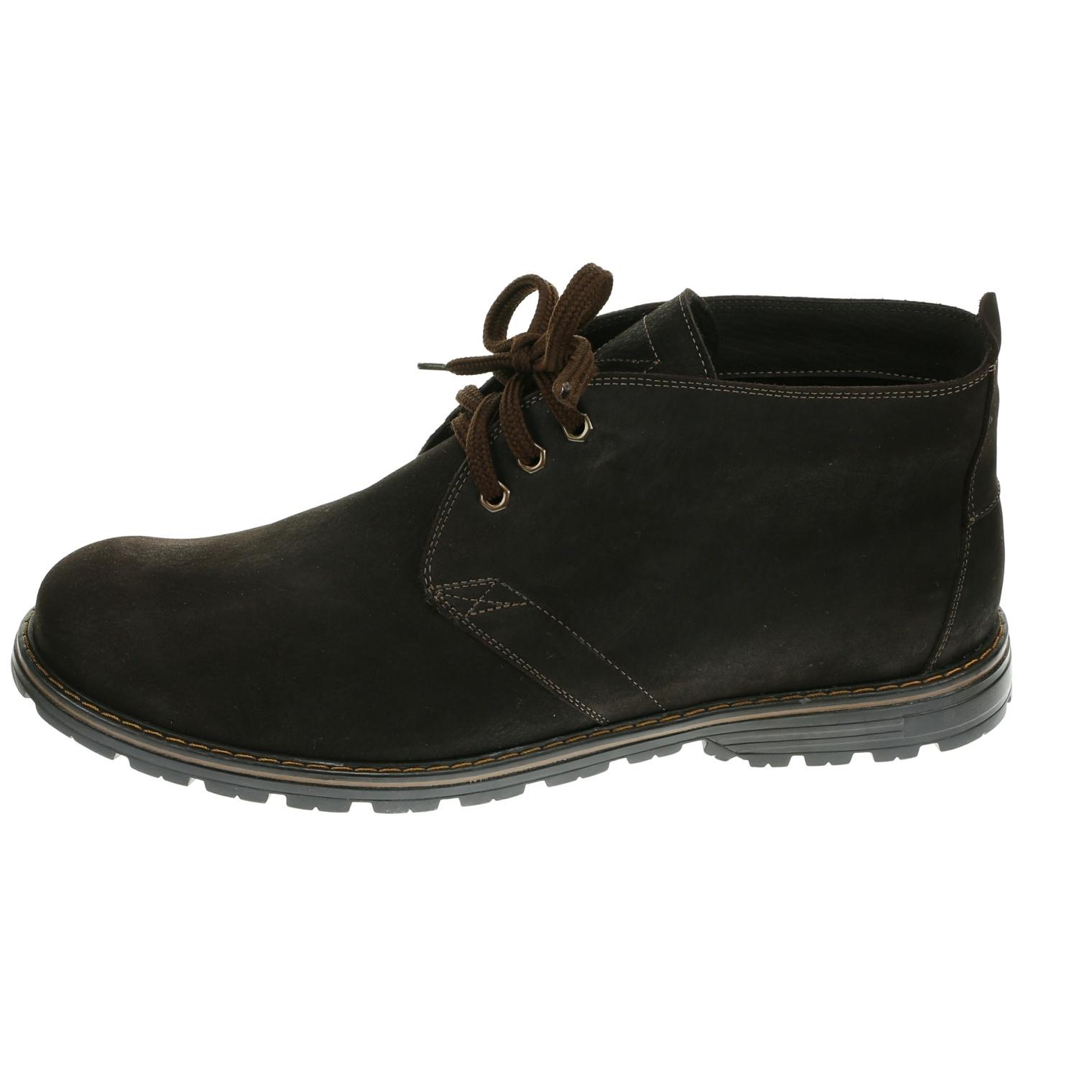 564483 ботинки мужские коричневые байка больших размеров марки Делфино