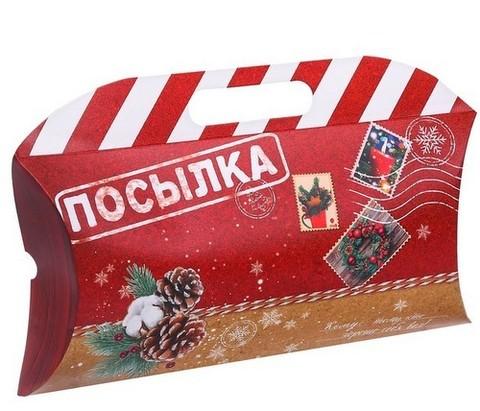 060-9961 Коробка подарочная «Посылка», 21,5 х 13,5 х 5 см