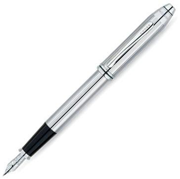 Cross Townsend - Lustrous Chrome, перьевая ручка, F, BL