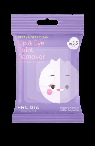 FRUDIA Мицеллярные диски для снятия стойкого макияжа с глаз и губ (1уп*30шт) / Blueberry Micellar 5.5 Lip Eye Remover Pad