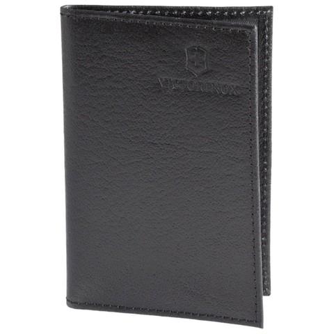 Чехол кожаный Victorinox для SwissCard, толщина 2 уровня, черный