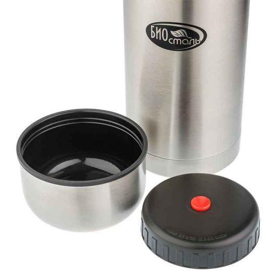 Термос для еды Biostal (0,75 литра) в чехле, стальной