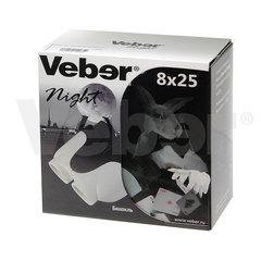 Бинокль Veber White Night 8x25 белый/черный