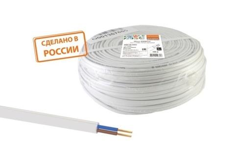 Провод ПГВВП 3х2,5 ГОСТ (100м), белый TDM