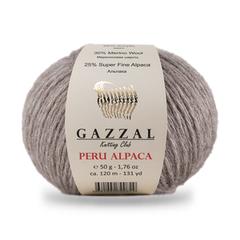 GAZZAL PERU ALPACA  (25% Супер тонкая Альпака, 30% Меринос, 45% Акрил, 50г/120м)