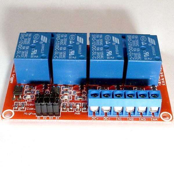 Релейный модуль 4 канала 12В