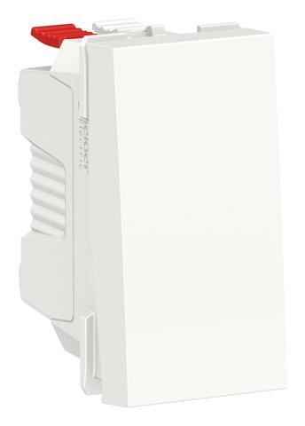 Выключатель кнопочный одноклавишный. 1 модуль. Цвет Белый. Schneider Electric. Unica Modular. NU310618